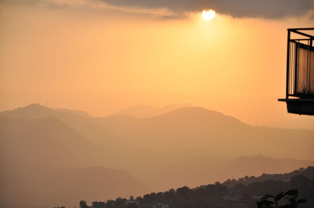 Solnedgang over Veroli