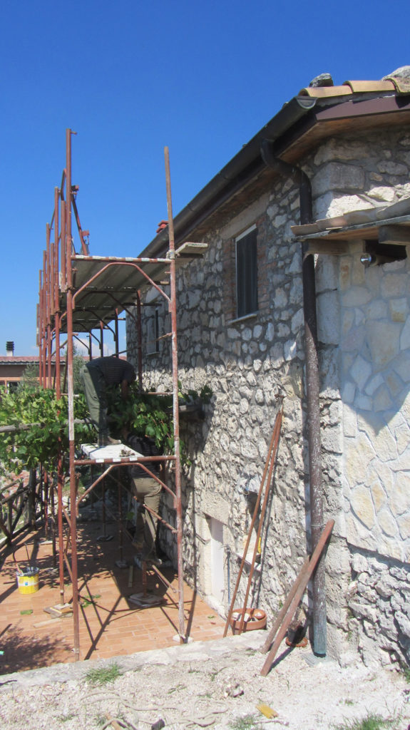Mye arbeid bel utført på Casa di Veroli i 2013